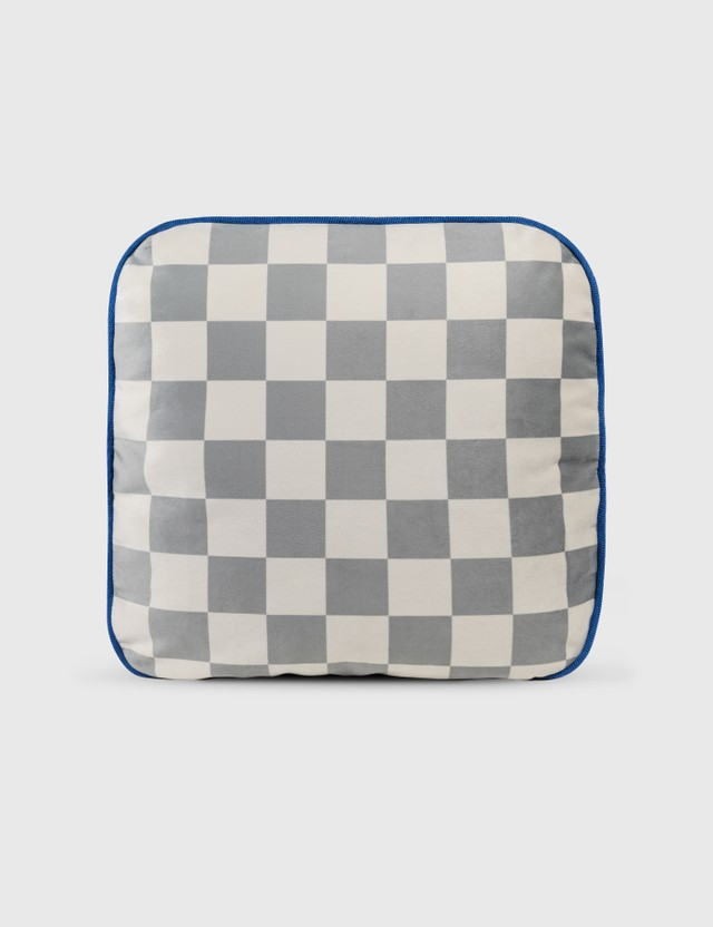 Crosby Studios Small Checkers Flat Pillow Grey Unisex
