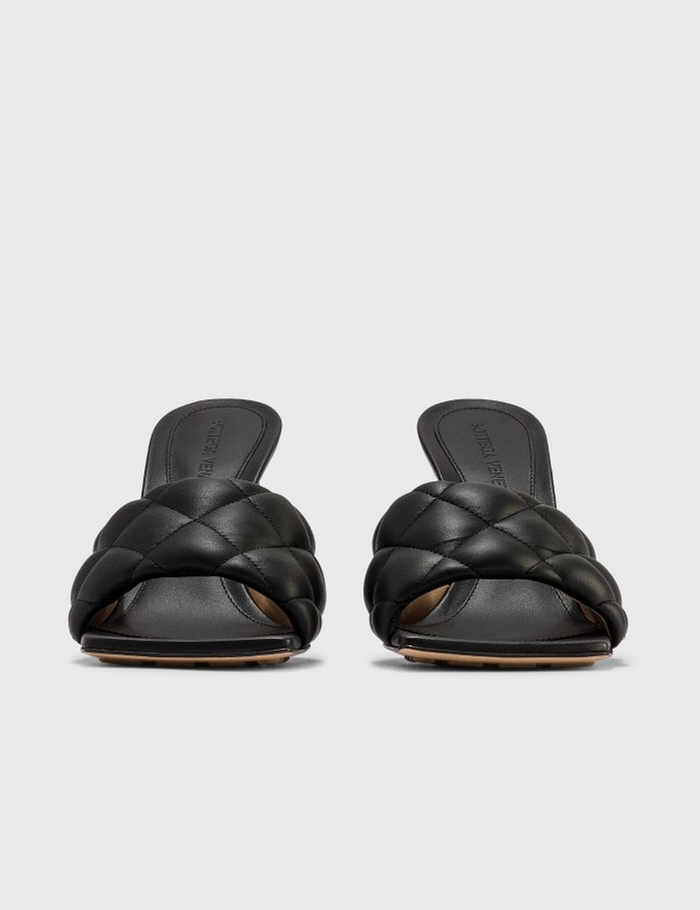 Bottega Veneta Padded Sandals In Nappa Nero Women