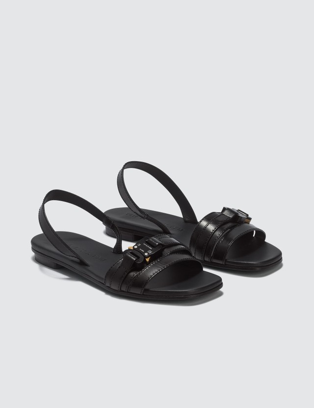 1017 ALYX 9SM Flat Sandal With Buckle Black Women