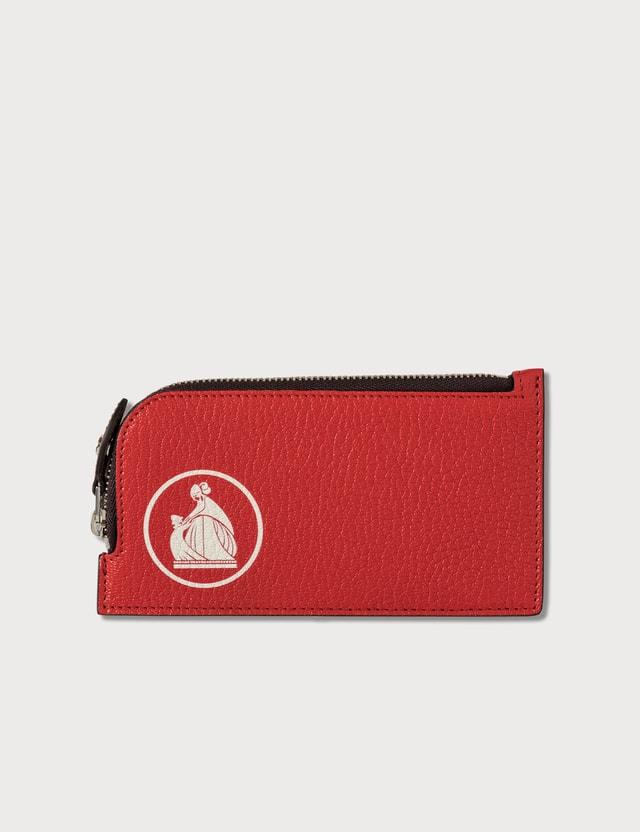 Lanvin Mother & Child Print Zipped Card Holder