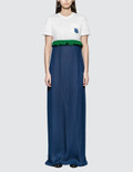 Prada Jersey and Chiffon Dress with Ruching Bianco + Inchios Women