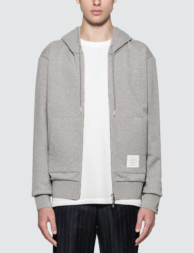 Thom Browne Zip Hoodie With Stripe