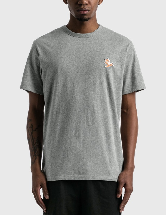 Maison Kitsune Chillax Fox Patch Classic T-shirt Grey Men