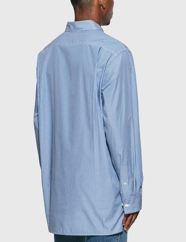 Acne Studios Face Patch Striped Shirt