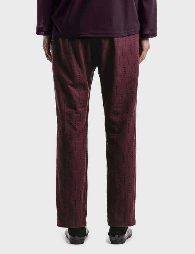 Needles Reverse String Easy Pant Bordeaux/red Men