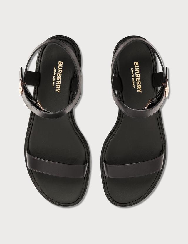 Burberry Monogram Motif Leather Sandals