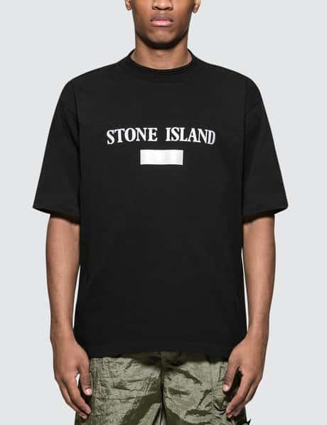 스톤 아일랜드 19 S/S 텍스트로고 반팔 티셔츠 블랙 Stone Island S/S T-Shirt