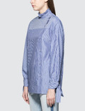 SJYP Stripe Button Blouse