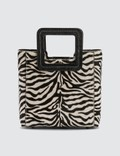 Staud Mini Leather Shirley Zebra Bag 사진