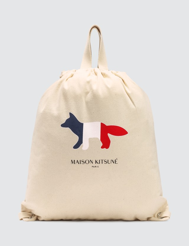 Maison Kitsune Tricolor Fox Tote Backpack