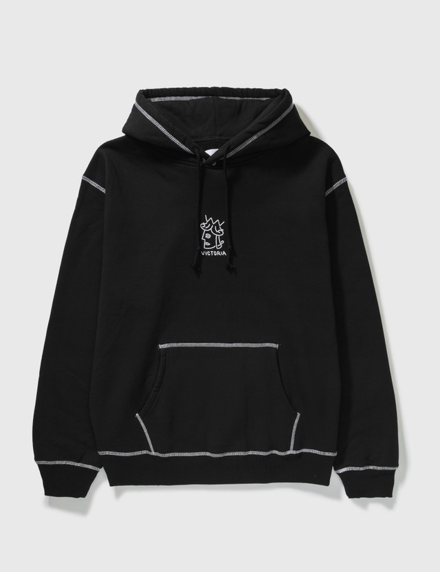 Victoria Queenhead Embroidered Hoodie Black Men