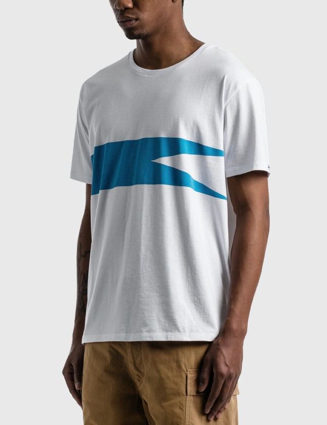Nanamica Coolmax Graphic T-shirt White × Blue Wb Men