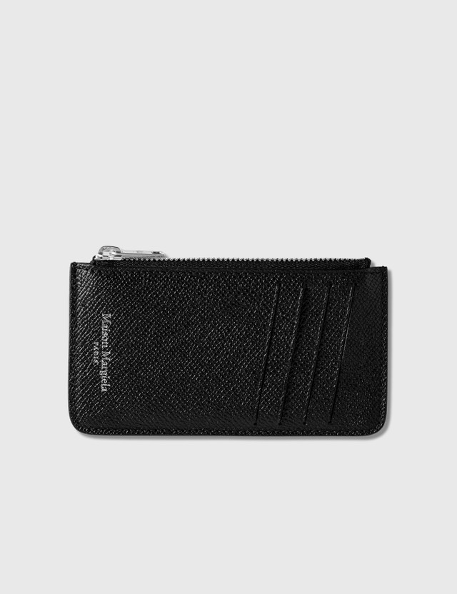 Maison Margiela Zipped Card Holder Black Men