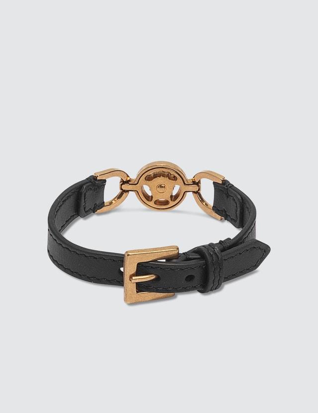 Versace Medusa Leather Bracelet