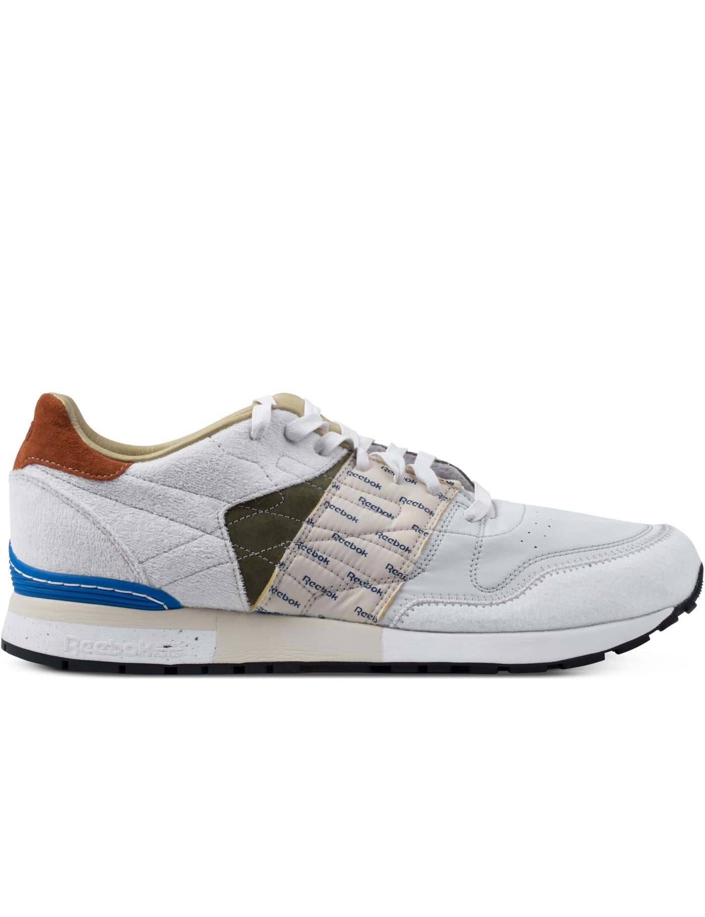 Reebok - GARBSTORE x Reebok White/Moss Green/Blue Classic Leather 6000 Sneakers