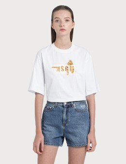 MSGM Cat Logo T-Shirt