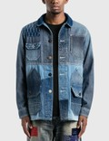 FDMTL 3YR Wash Bicolor Coverall Jacket 사진
