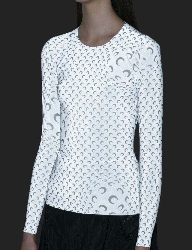 Marine Serre Moon Printed Reflective Long Sleeve Top
