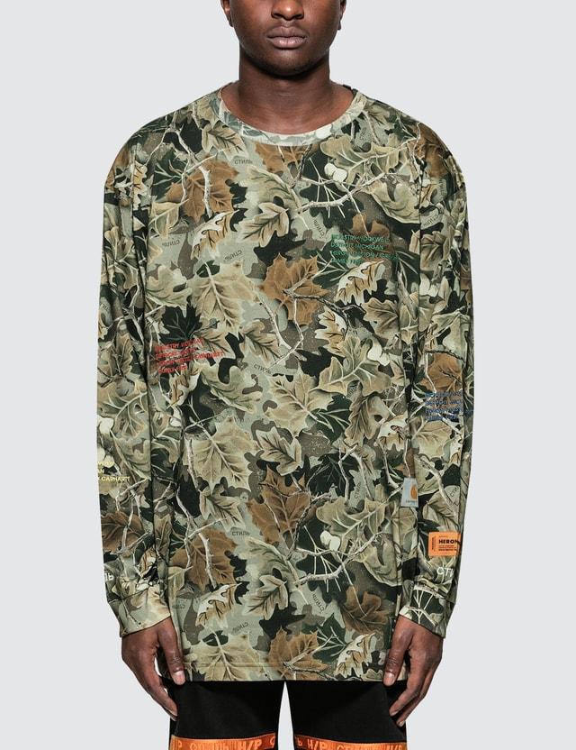 Heron Preston Heron Preston X Carhartt Camo L/S T-Shirt