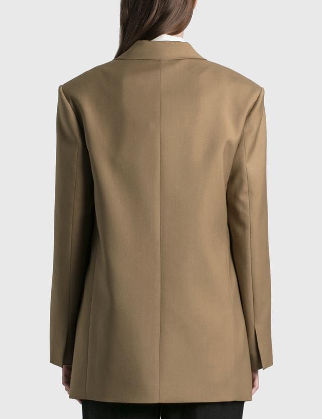 We11done Suit Logo Blazer Beige Women