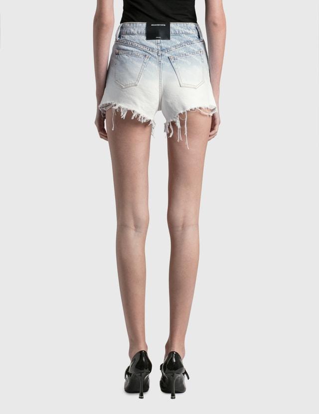 Alexander Wang.T Bite Ombre Logo Shorts Pebble Bleach Women