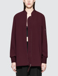 Alexander Wang.T Satin Crepe Long Sleeve Welded Bomber Picture