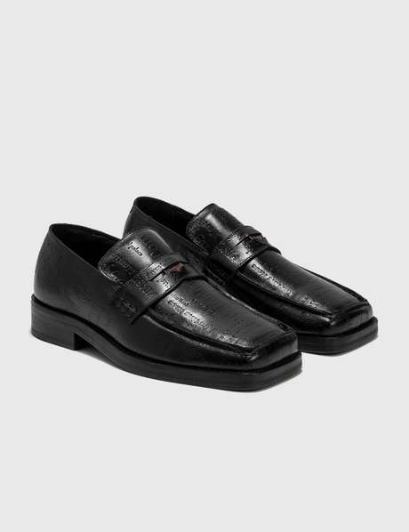 Martine Rose Embossed Text 록시 Roxy Loafer