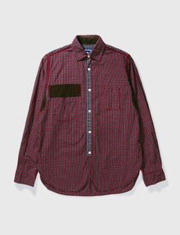 Junya Watanabe Man Junya Watanabe Man Patch Check Shirt