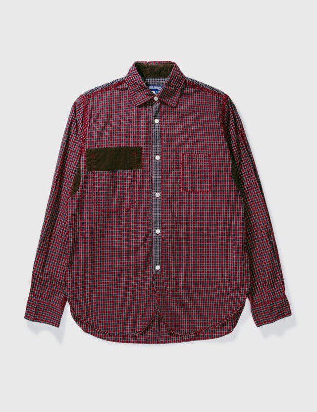 Junya Watanabe Man Junya Watanabe Man Patch Check Shirt Red/brown Archives