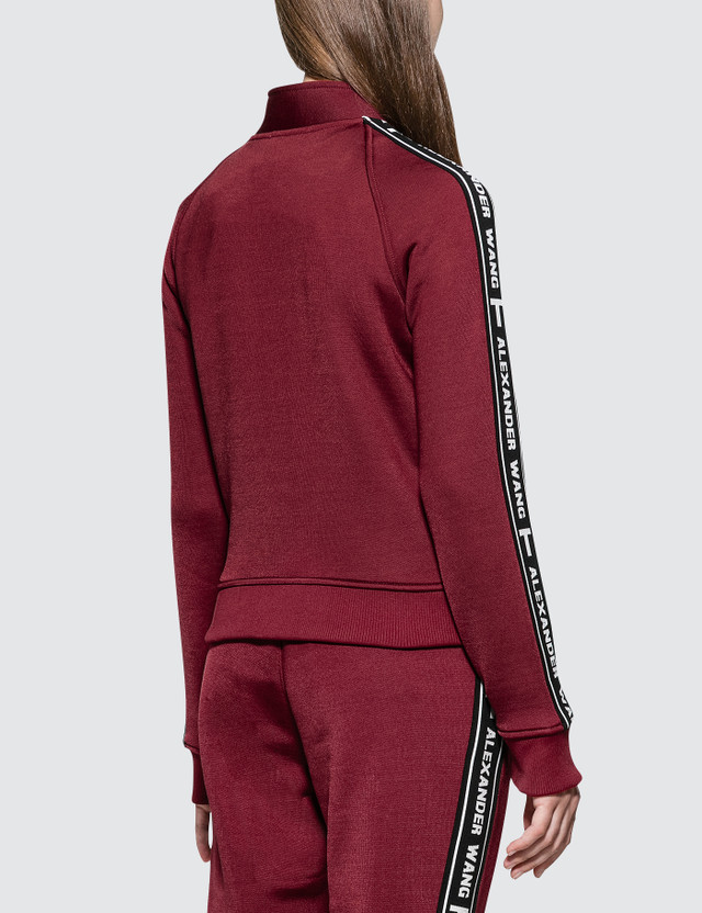 Alexander Wang.T Sleek French Terry Full-Zip Shrunken Track Jacket
