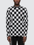 Chinatown Market L/S Printed Check Mock Neck T-Shirt Picutre