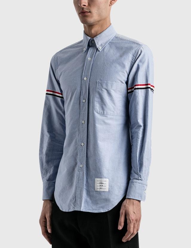 Thom Browne RWB Stripe Oxford Shirt Light Blue Men