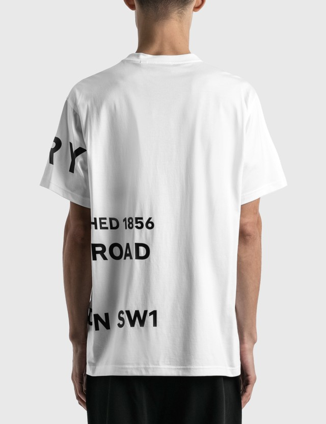 Burberry Horseferry Print Cotton Oversized T-shirt White Men