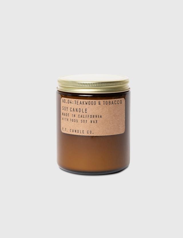 P.F. Candle Co. Teakwood & Tobacco Mini Soy Candle N/a Unisex