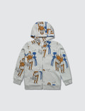 Mini Rodini Cool Monkey Aop Zip Hoodie Picture