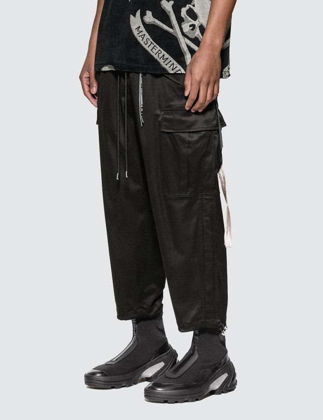 Mastermind World Skull Embroidery Loose Fit Cargo Pants