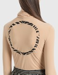 MM6 Maison Margiela Tie Neck Bodysuit Nude Women