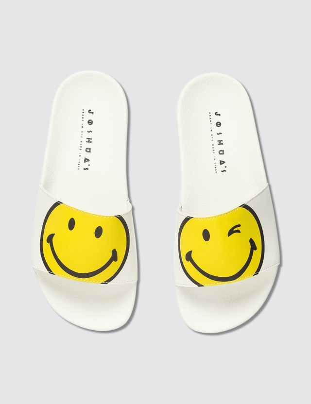 Joshua Sanders White Macro Smile Sandals