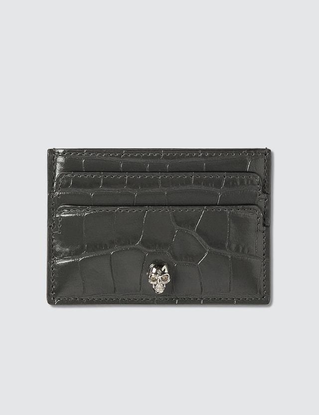 Alexander McQueen Croc Embossed Card Holder