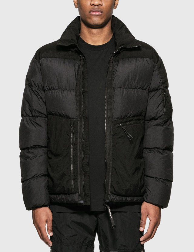CP Company Medium Down Jacket Black Men