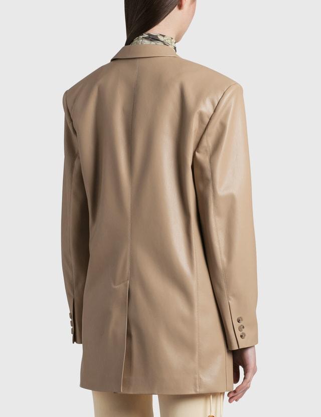 Nanushka Evan Vegan Leather Blazer Sandstone Women