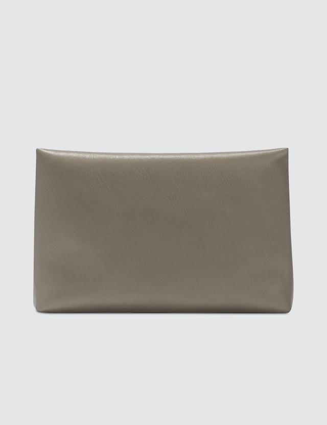 Maison Margiela Logo Leather Clutch