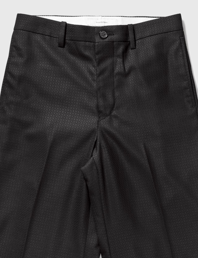 Sasquatchfabrix. Flare Silhouette Slacks Black Men