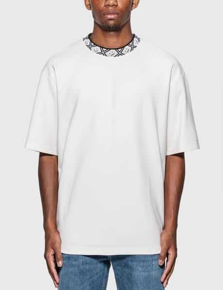 아크네 스튜디오 Acne Studios Face Motif Mock Neck T-Shirt