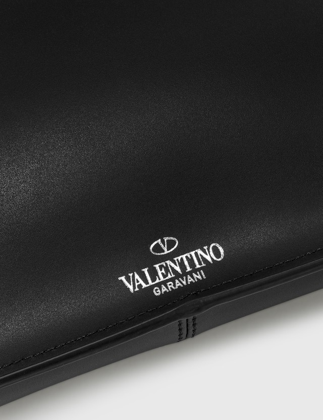 Valentino Valentino Garavani Leather VLTN Belt Bag Nero/bianco Men