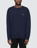 Maison Kitsune Tricolor Fox Patch Sweatshirt Picture