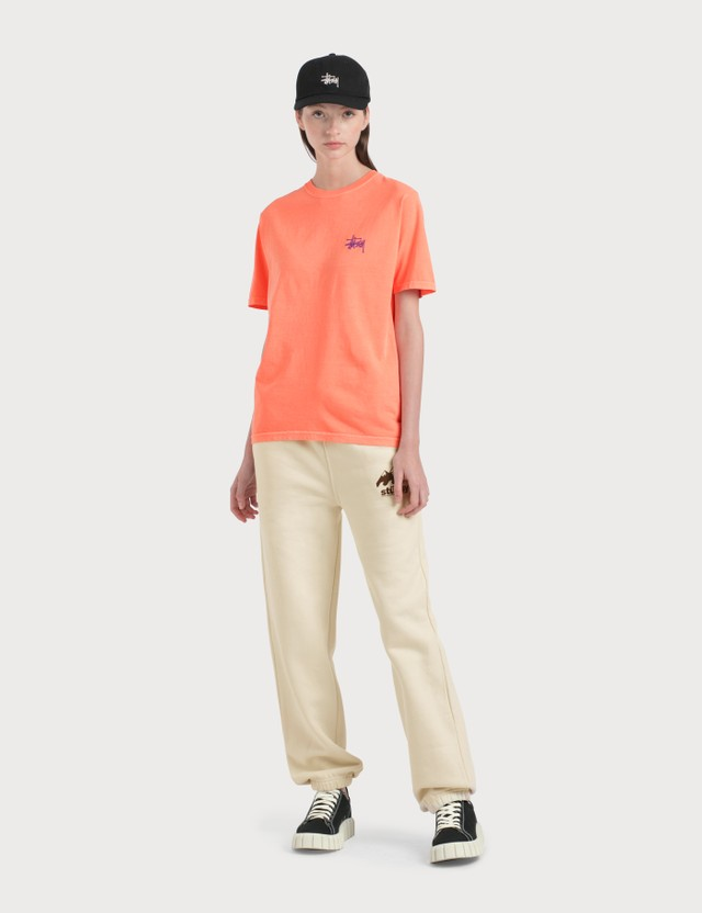 Stussy Basic Pigment Dyed T-Shirt Neon Orange Women