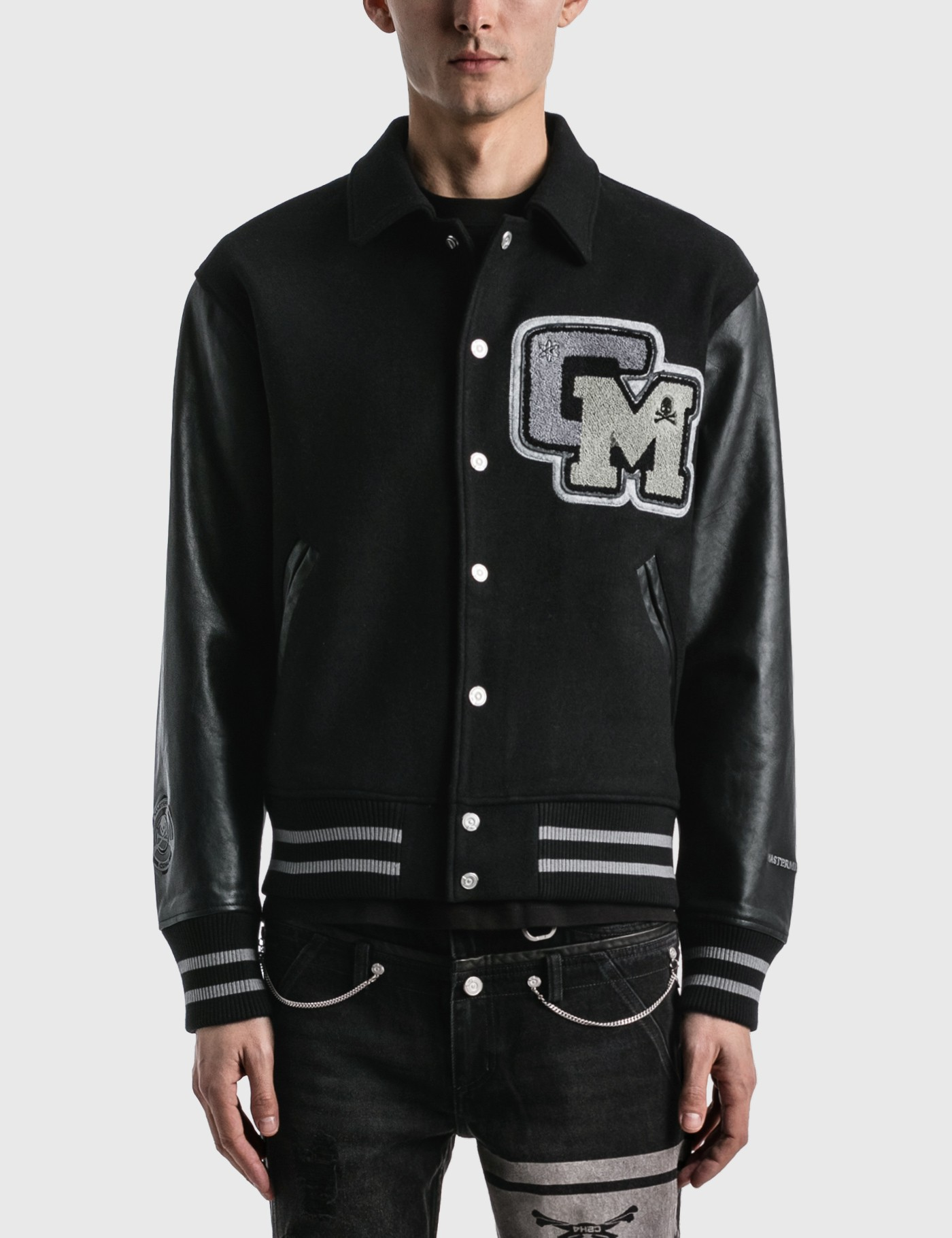 C2H4 x Mastermind Japan Applique Baseball Jacket