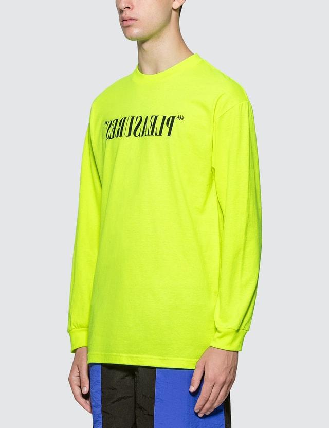 Pleasures Flipped Logo Long Sleeve T-shirt