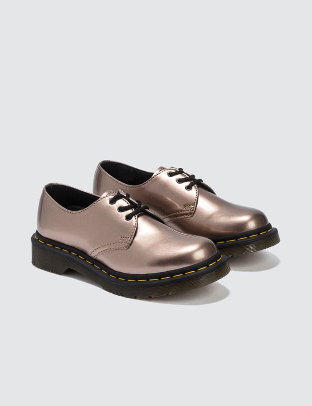 Dr. Martens 1461 Vegan Rose Gold Chrome Paint Metallic